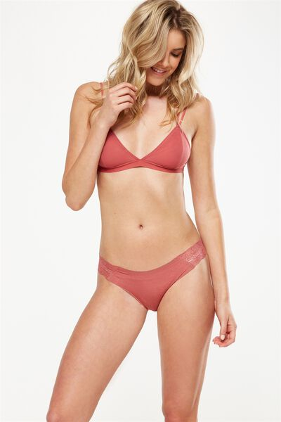 Party Pants Seamless Brasiliano Brief, RUSTY ROSE MARLE