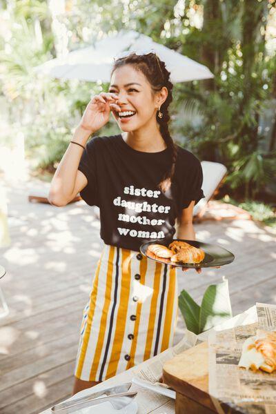 Women Empowerment T Shirt, BLACK / IWD