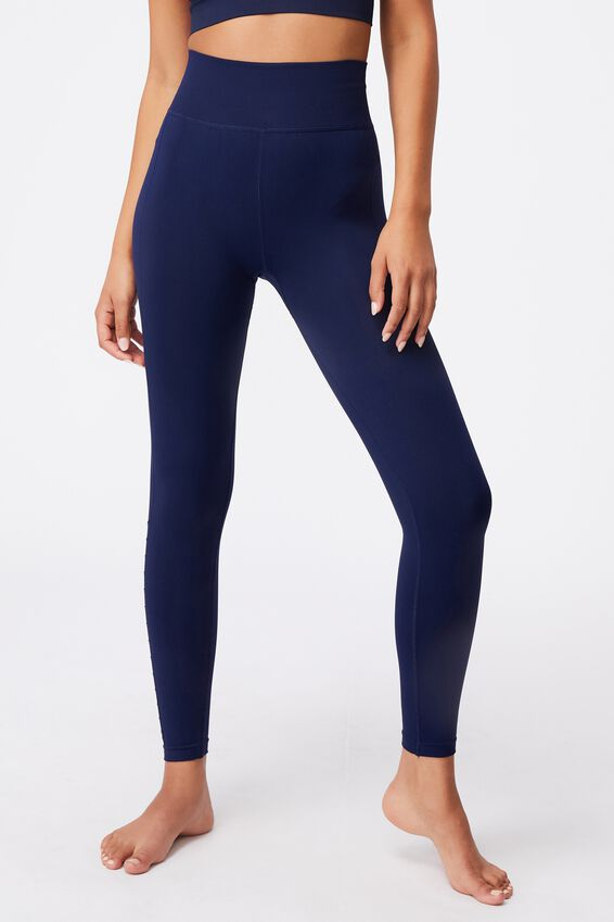 Lifestyle Seamless 7/8 Yoga Tight, NAVY