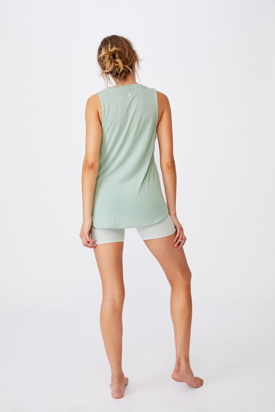 Active Curve Hem Tank, MINT CHIP
