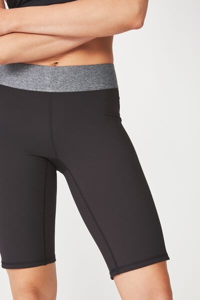 Active Mid Gym Short, BLACK / SALT & PEPPER