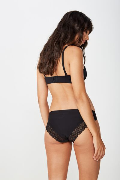 Party Pants Seamless Bikini Brief, BLACK