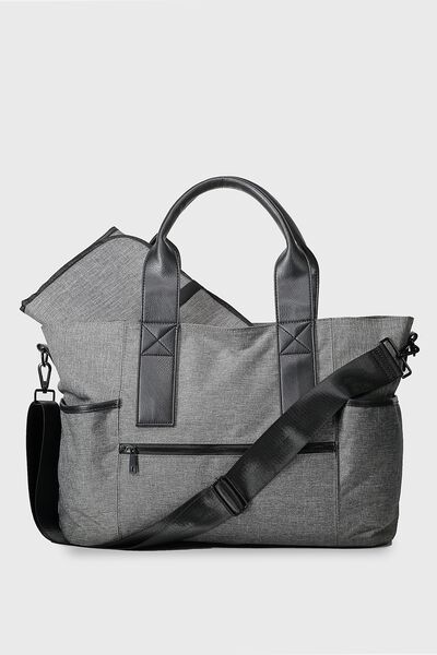 Maternity Bag, GREY/BLACK