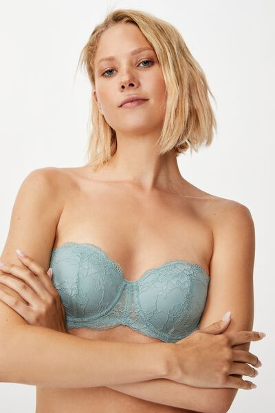 Lily Lace Push Up2 Bra, WILLOW GREEN