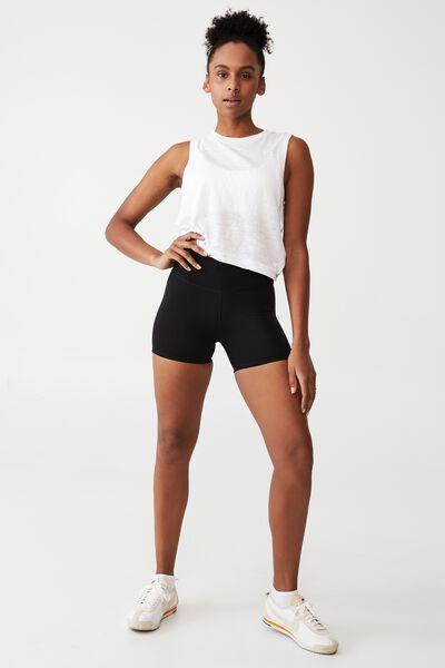 Highwaisted Shortie Short, CORE BLACK