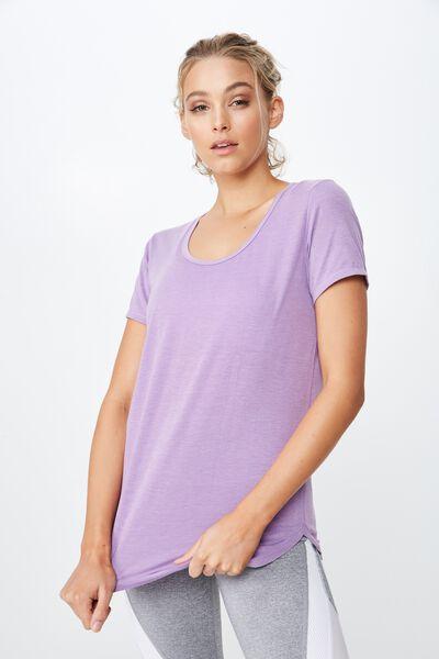 Gym T Shirt, PURPLE DOVE
