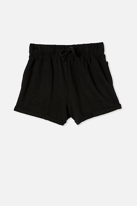 Summer Fleece Short, BLACK