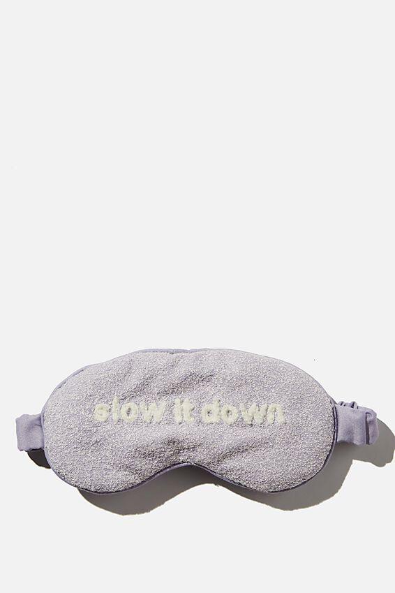 Sleep Eyemask, CHALKY LAVENDAR/SLOW IT DOWN