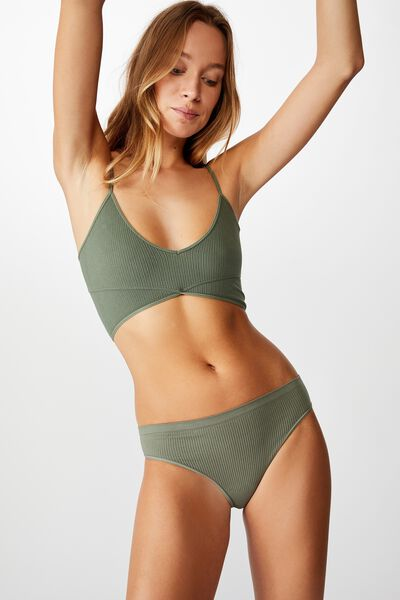Seamfree Bikini Brief, KHAKI