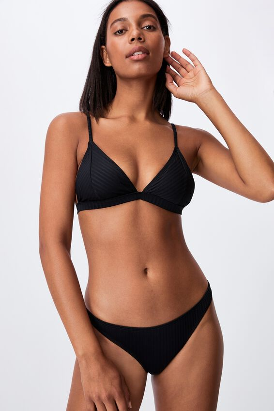 Full Bikini Bottom Rib, BLACK RIB 21