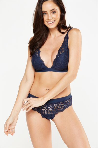 Phoebe Convertible Bralette, MIDNIGHT