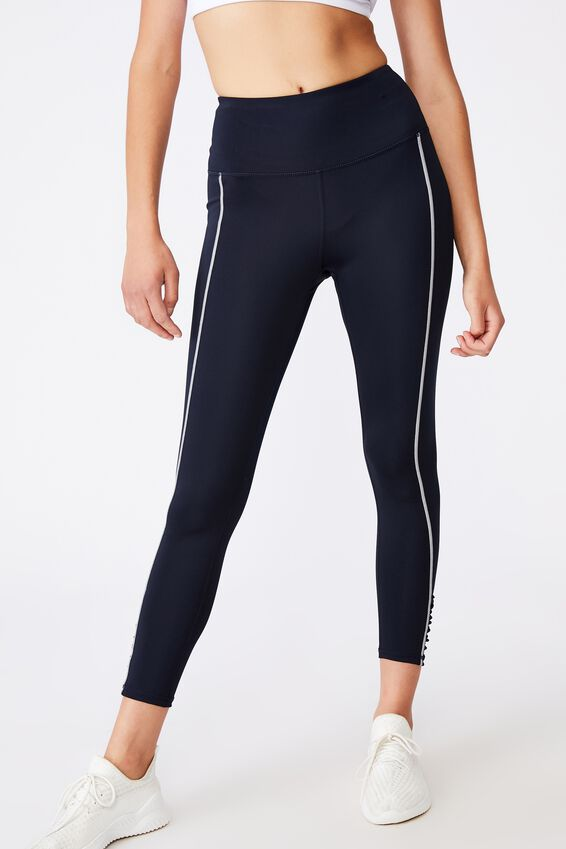 Love You A Latte 7/8 Active Tight, NAVY/REFELCTIVE