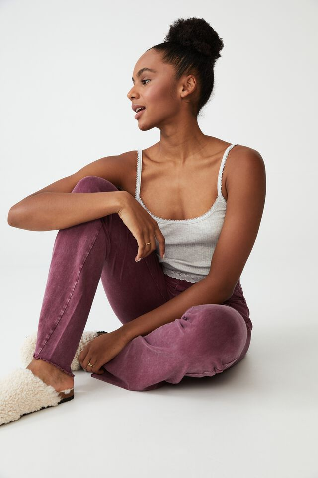 Jersey Bed Pant, WASHED PINOT ROSE