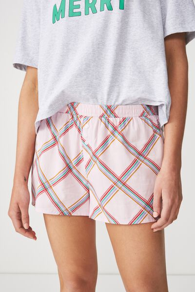 Bedtime Fun Shortie, CHEEKY CHECK/CRYSTAL PINK