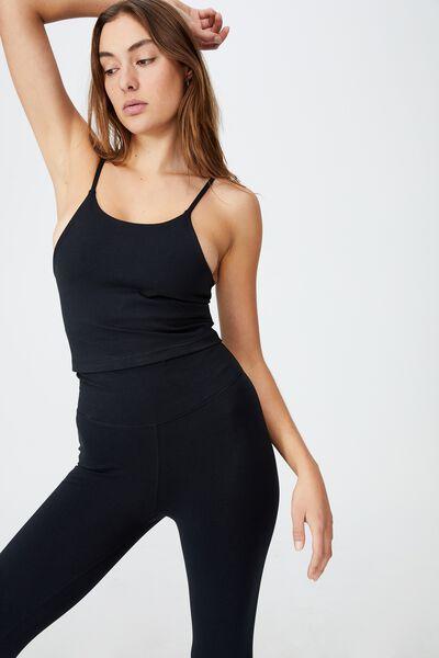 Breathe Yoga Vestlette, BLACK