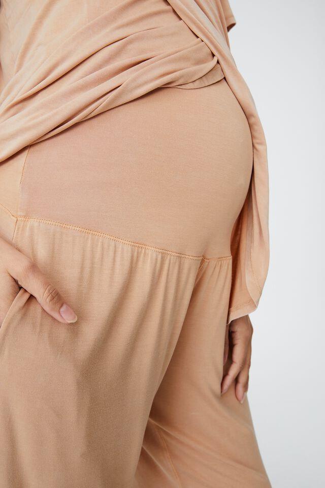 Sleep Recovery Maternity Pant, BUTTERSCOTCH WASH