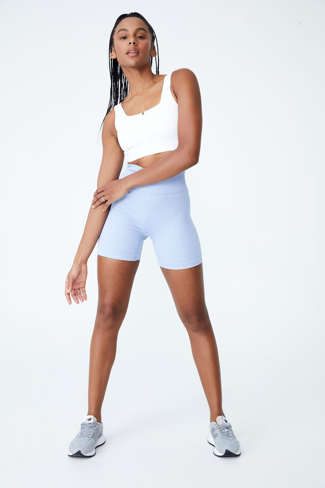 Ultimate Zip Front Crop, WHITE