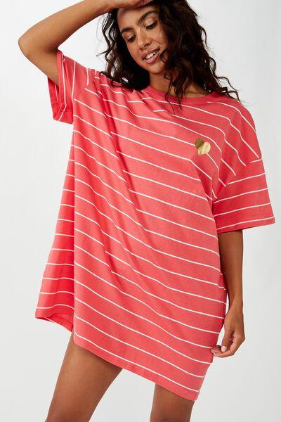 90 S Tshirt Nightie, BRETON STRIPE/ HEART