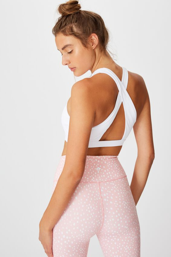 Workout Cut Out Crop, WHITE