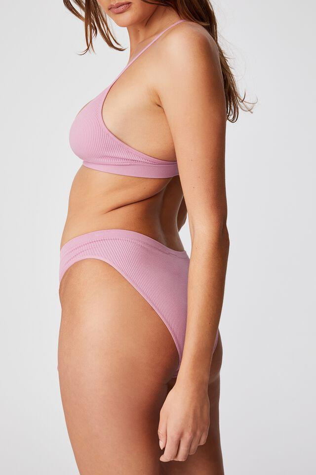 Seamless Bikini Brief, ORCHID SMOKE