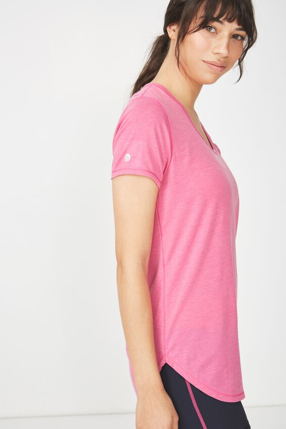 Gym T Shirt, CONFETTI PINK MARLE