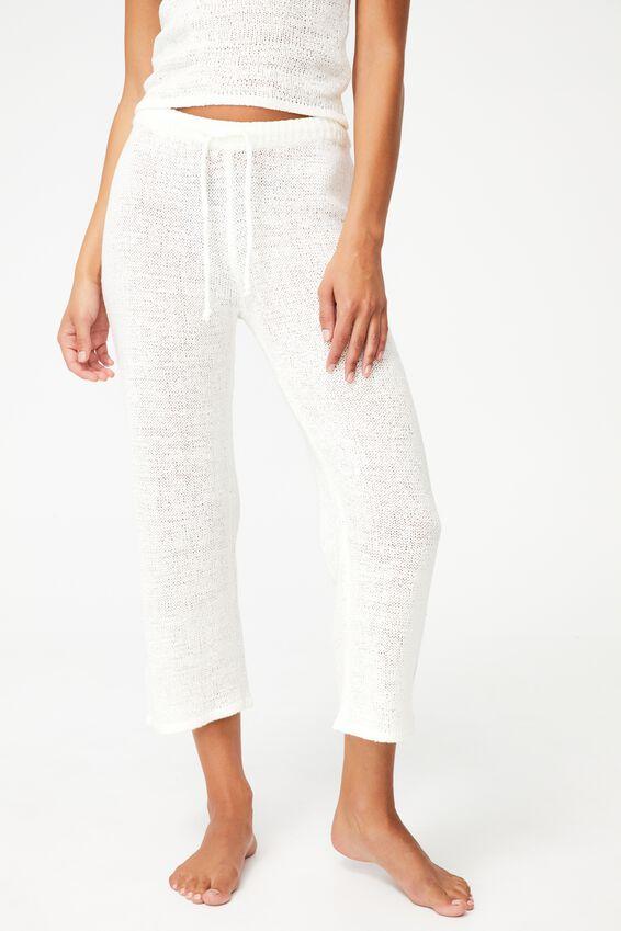 Summer Lounge Pant, WHITE