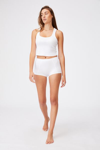 Organic Cotton Shorty Brief, WHITE