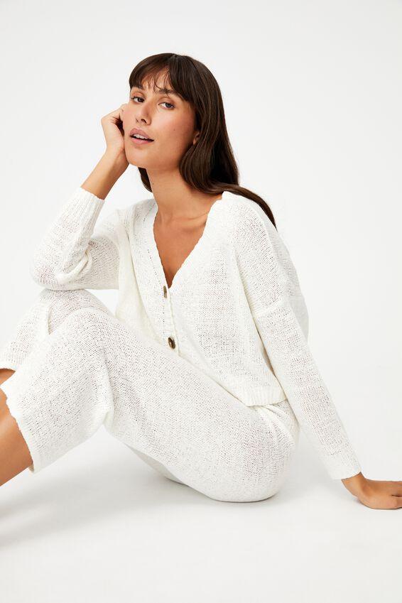 Summer Lounge Cardigan, WHITE