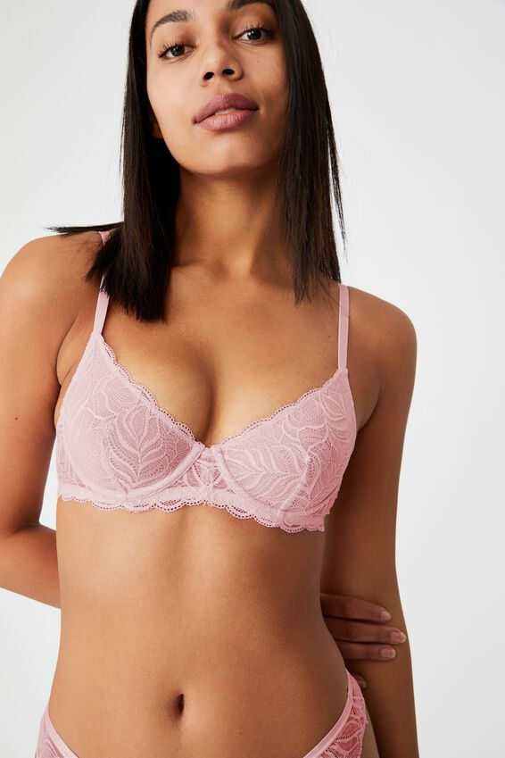 Summer Lace Unlined Underwire Bra, LILAC SNOW