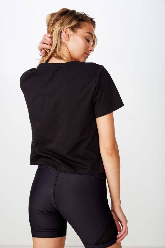 Active Placement Print Tshirt, BLACK