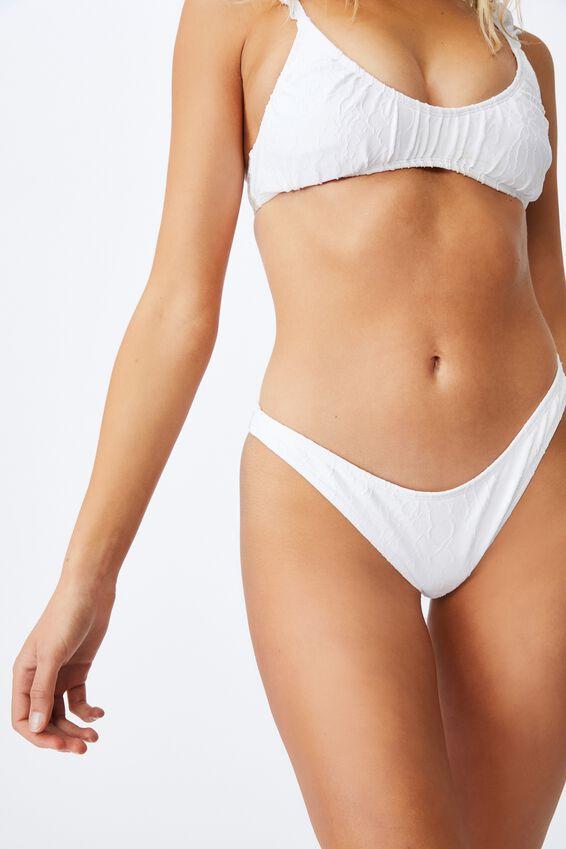 Refined High Side Brazilian Bikini Bottom Jacquard, ORCHID MIST JACQUARD