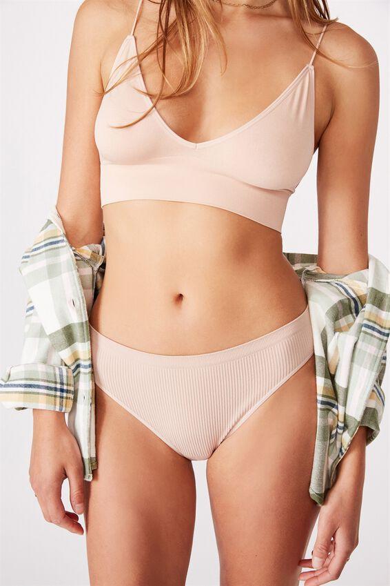 Seamless Bikini Brief, NEW LATTE