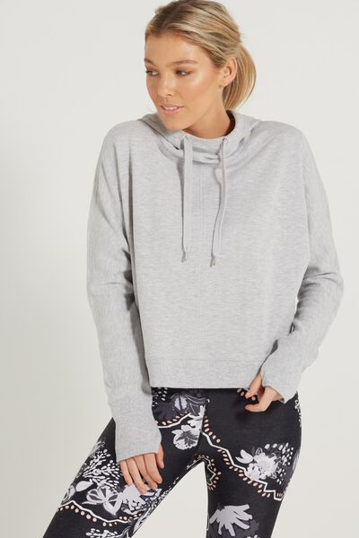 Bliss Longsleeve Sweat Top, GREY MARLE