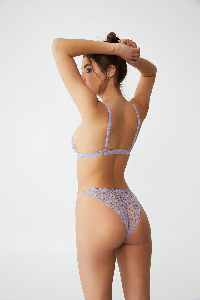 Fifi Lace Tanga Bikini Brief, LILAC DREAM