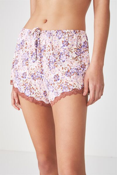 Love Short, MINI MISTED BLOOM/OFF WHITE