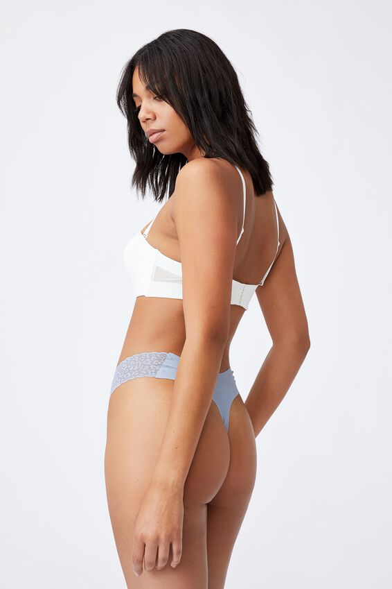 Party Pants Seamless G-String Brief, BLUE FOG
