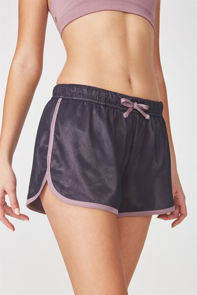 Mesh Jersey Jogging Short, SHADOW/THISTLE MAUVE