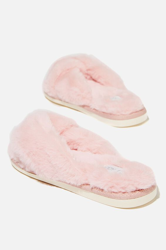 Knot Crossover Slipper, BLUSH