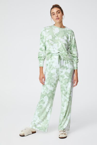 Super Soft Relaxed Pant, TIE DYE MINT TONAL