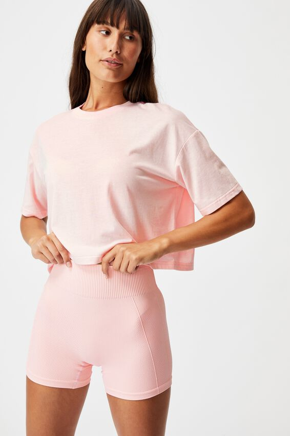 Relaxed Active T-Shirt, PINK SHERBET MARLE