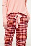 Non Cuffed Flannel Pant, TERRACOTTA CHECK