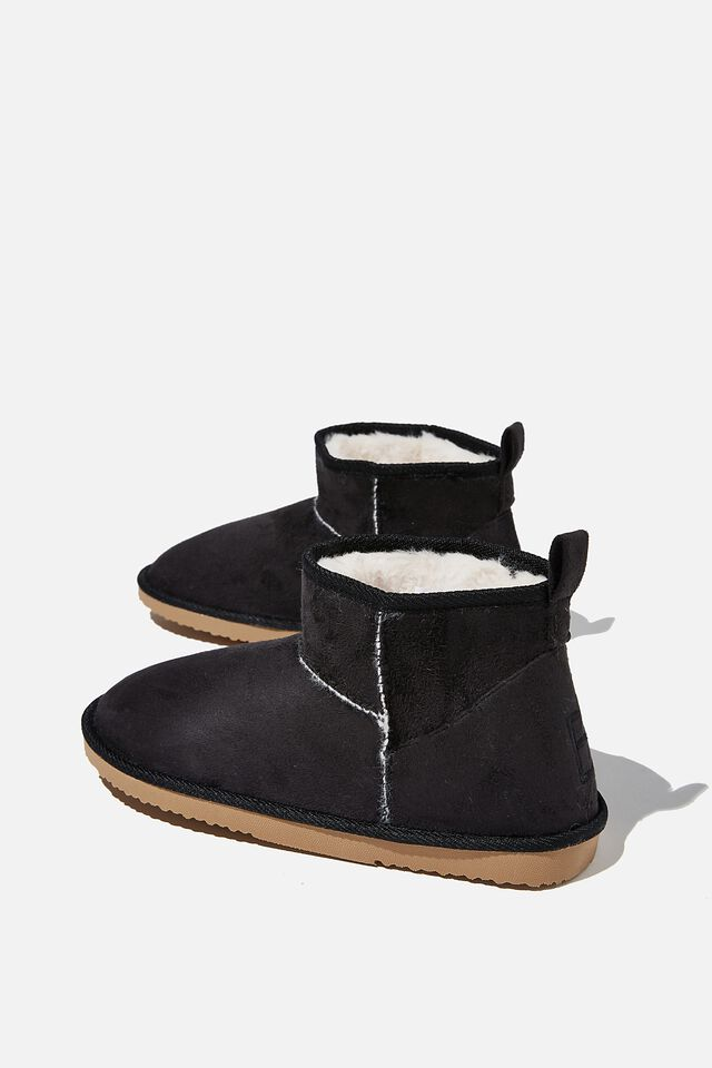 Body Super Cropped Home Boot, BLACK
