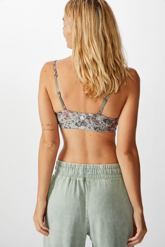 Workout Yoga Crop, BOTANICAL DITSY/STEELY SHADOW