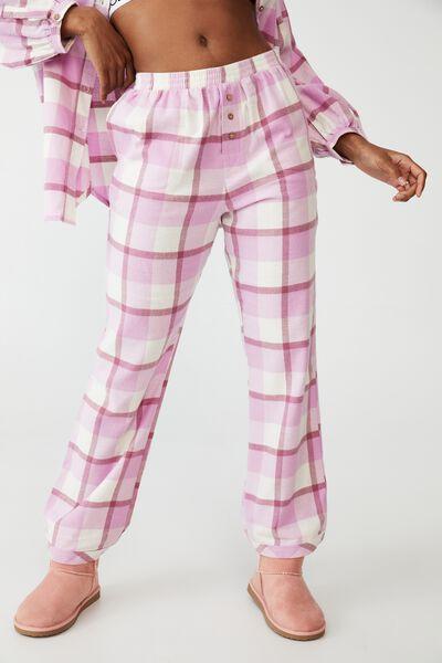 Warm Flannel Sleep Pant, FIELD CHECK BLOOM