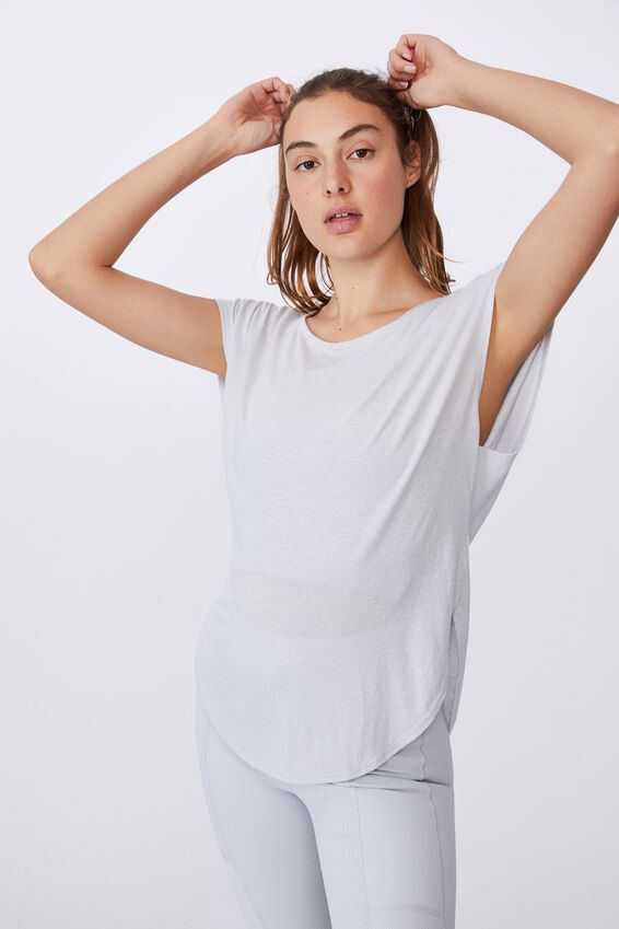Active Scoop Hem Tshirt, GREY MARLE