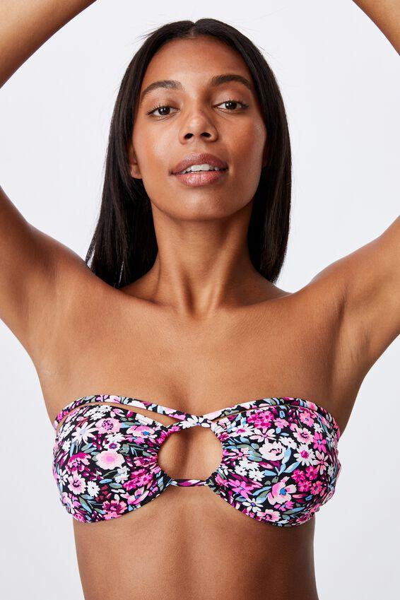 Floss Bikini Top, PAINTED DENSE DITSY