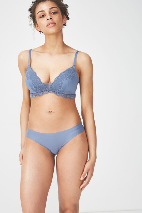 Party Pants Seamless Bikini Brief, STORM BLUE
