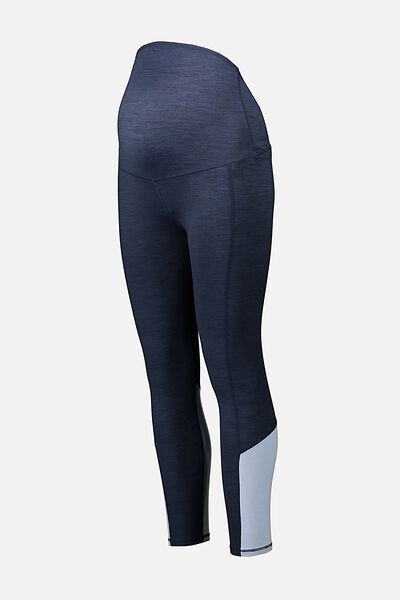 Maternity So Soft 7/8 Tight, NAVY MARLE SPLICE