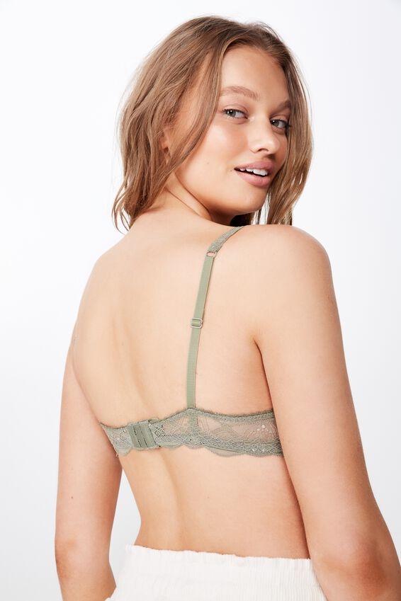 Cindy Lace Push Up Bra, STEELY SHADOW