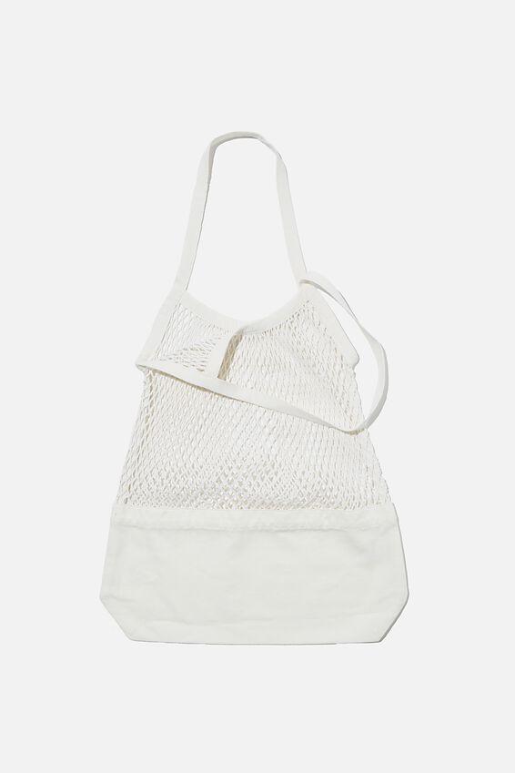 Woven Market Bag, NATURAL